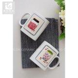 12oz昇進の陶磁器のコーヒー・マグのミルクのマグのロゴの印刷