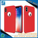 Caisse liquide antichoc de téléphone de silicones pour l'iPhone X
