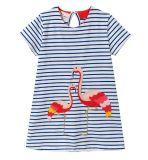 Nouveau été robe robe de fils teints pour enfants