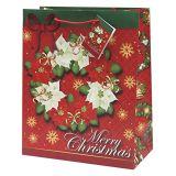 Comercio al por mayor Bolsas de regalos de Navidad OEM medio grueso surtido con asas y etiquetas para envolver regalos ##Ab19