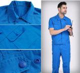 Fato-macaco Short-Sleeved para o trabalhador de fábrica