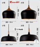 レストランのための現代簡単な金属木ペンダント灯