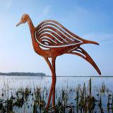 FO-CS16 Beeldhouwwerk van het Staal Corten van de vogel het Openlucht Decoratieve
