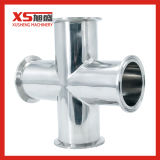 Croix Tri-Clamp sanitaires en acier inoxydable