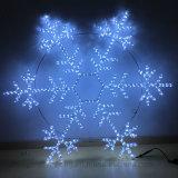 2D Motiv-Licht des im Freien und Innendes dekor-75cm Weiß-60LED Schneeflocke-Stahldes rahmen-LED
