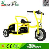 De in het groot Driewieler Met drie wielen van de Jonge geitjes van de Baby van het Kind met de Staaf van de Duw