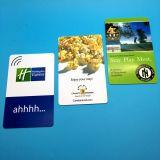 Smart Card su ordinazione della scheda di chip di alta frequenza 13.56MHz RFID della scheda di prossimità CR80 per il biglietto elettronico