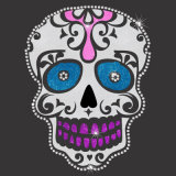 Исправление Flower Skull Rhinestone мотивами переводы оптового продавца