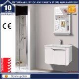 '' moderner Lack-Badezimmer-Schrank des festen Holz-6 weißer mit Spiegel