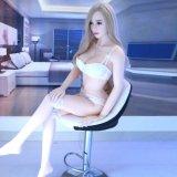 Asien-grosse Brust-Silikon-Geschlechts-Puppe, Geschlechts-Puppe des Silikon-3D