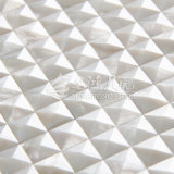 Azulejo de mosaico biselado blanco puro del borde de la cara 20*20m m del arco del shell de agua dulce