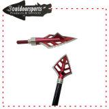 La freccia materiale di alta qualità nera di colore capovolge le lamierine fisse Broadhead per il gioco di caccia di tiro all'arco