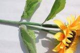 Flor artificial falso amarillo de las flores de girasol para la decoración casera