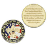 Подгонянная монетка возможности золота сувенира церемонии