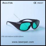 V. L. T 30% dos lasers vermelhos 635nm e 808nm Laser de diodo óculos de protecção com moldura preta 33