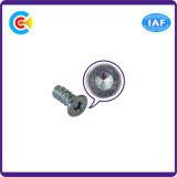 DIN и ANSI/BS/JIS Carbon-Steel/Stainless-Steel оцинкованных темно-блоссом головки блока цилиндров заднего Саморез