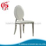 Empilhando a cadeira oval do aço inoxidável do frame de prata para a venda