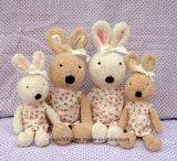 Brinquedo de pelúcia de coelho recheado com Bowknot
