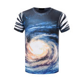 T-shirt 100% estampé par sublimation de l'impression 3D de T-shirt de polyester de coutume