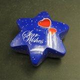 별 초콜렛 또는 사탕 또는 Xmas 또는 수공예 (HS001-V1)를 위한 모양 선물 주석 상자