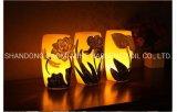 Candela cambiante di colore domestico di lusso della decorazione LED, candela