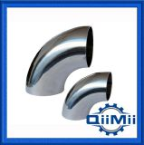 3A / DIN 90 Degree Food Industry Cerveja Leite Sanitary Weld Elbow