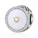 Fascino accessorio di Pandore dei branelli dell'argento 925 di figura del cuore dei monili del braccialetto