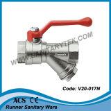Válvula de bola de latón colador (V20-017)