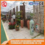 China Multi-Überspannung Blumen-ausgeglichenes Glas-Gemüsegewächshaus