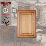 高品質のマホガニーの木製の台所ドアのキャビネットデザイン(GSP5-017)