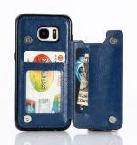 Móbil do plutônio do teste padrão do OEM/caso de couro bonitos da tampa do telefone da cópia de Filp carteira da pilha para o iPhone 6/7