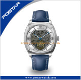 Orologio automatico di placcatura di caso di qualità impermeabile nera di versione