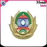 Emblema di rame del distintivo di sfida dello smalto di Silve dell'oro del ricordo