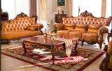 Sofá de cuero estilo de Europa de muebles de Chesterfield de cuero genuino con los muebles del sofá