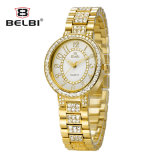 Belbi Uhr korrodiert, asiatische Zeichen-quadratische Diamant-Edelstahl-Quarz-Uhr schattierend