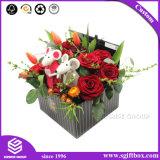 까만 광대한 꽃 출하 마분지 우수한 주문 버들고리 꽃 상자