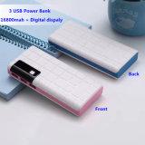10000mAh carregador portátil Universal Mobile Bank/Fornecimento de energia com 3 portas USB para carregamento