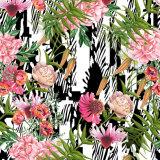 Baixa MOQ tela de seda impressa Digitas do teste padrão geométrico para vestuários