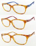 Het Optische Frame van uitstekende kwaliteit van de Acetaat met Dubbele Kleur voor Vrouw