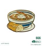 Customzized Metallnahrungsmittelpizza-weiches Decklack-Reverspin-Abzeichen (xd-03177)