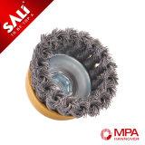 Индустрия Sali Using завязанная Tempered щетка чашки провода нержавеющей стали
