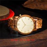 Precioso reloj de madera de cuarzo de moda con bandas de madera para las mujeres fs531