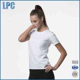 Женщин с круглой горловины короткое замыкание -Футболка с длинным рукавом сплошным цветом повседневный T - футболка