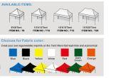 折るテントを広告する報酬10X10FTアルミニウム