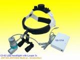 Indicatore luminoso capo dentale chirurgico ricaricabile del LED con le lenti di ingrandimento 3.5X