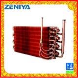 Bobina do condensador da aleta do cobre da câmara de ar de cobre para o cambista de calor da C.A.