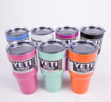 Fábrica Atacado Yeti Mug Coolers 30oz 20oz de aço inoxidável Rambler Tumbler Yeti Cup para carros