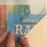 De unidirectionele Visie voor de Kleefstof van de Stickers van het Venster perforeerde VinylFilm