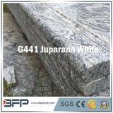 Wit van Juparana van de Tegel van de Vloer van de Rustieke van de Aders van het Bouwmateriaal Steen van het Graniet het Marmeren