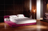 Китайской кровати сюиты спальни короля Размера обитые тканью